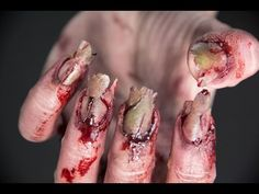 Zombie nails tutorial | Elle Levi - YouTube - best one!