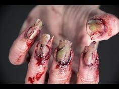 Zombie nails tutorial | Elle Levi - YouTube - best one!