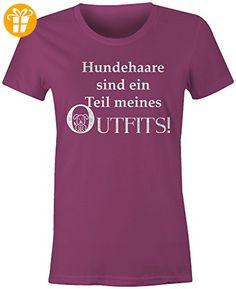 Hundehaare Sind Ein Teil Meines Outfits ★ Rundhals-T-Shirt Frauen-Damen ★ hochwertig bedruckt - Größe M (*Partner-Link)