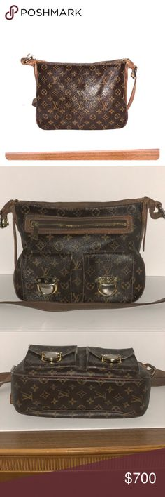 Louis Vuitton Monogram Canvas Hudson GM Bag Louis Vuitton's classic signatures is what makes this Louis Vuitton Monogram Canvas Hudson GM Bag a winning combination. With its chunky golden hardware, push-lock pockets and versatile long adjustable shoulder strap, this urban-chic bag is one you'll want to carry everyday Louis Vuitton Bags Shoulder Bags