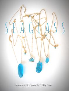 NEW Blue #SeaglassJewelry from JewelryByMaeBee on #Etsy. #sfetsy www.jewelrybymaebee.etsy.com