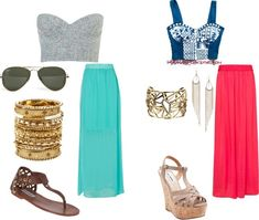 Spring break outfits (maxi skirts)
