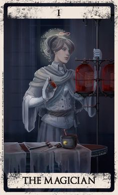 The origins of the Tarot are surrounded with myth and lore. The Tarot has been thought to come from places like India, Egypt, China and Morocco. Others say the Tarot was brought to us fr Arte Dark Souls, The Magician Tarot, Bloodborne Art, Bloodborne Characters, Old Blood, Darkest Dungeon, Arte Obscura, Soul Art, Major Arcana