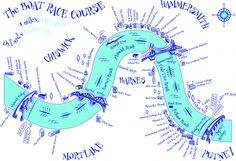 Annabel Eyres - map of the Oxford and Cambridge Boatrace course from Putney to Hammersmith