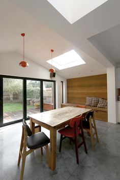 Gruff Architects - Peckham Rye - wood accent and bench