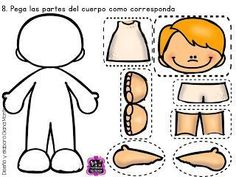 Fichas examen infantil y preescolar. Toddler Activities, Preschool Activities, Montessori, All About Me Preschool, Body Preschool, Free To Use Images, Preschool Worksheets, Kids Education, Pre School