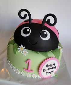 ladybug birthday cake | Pink Ladybug Cake — Birthday Cakes
