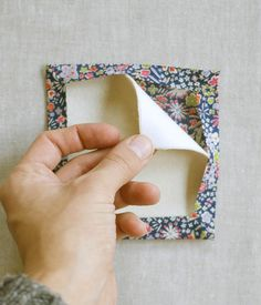 New Year's Liberty Coasters | The Purl Bee -- (miter corners before insert batting and top fabric)