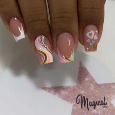 Girls Nail Designs, Nail Art Designs Videos, Creative Nail Designs, French Tip Nail Designs, Creative Nails, Beautiful Nail Designs, Shellac Nail Designs, Stylish Nails, Trendy Nails