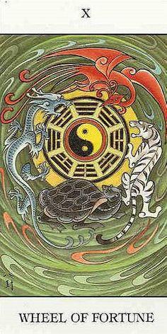X. The Wheel of Fortune - Chinese Tarot by Jui Guoliang