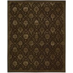 Nourison Hand-tufted Floral Regal Dark Chocolate Wool Rug (8'6 x 11'6-Standard), Brown