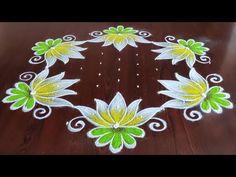 Simple Rangoli Border Designs, Rangoli Simple, Rangoli Borders, Rangoli Designs Flower, Small Rangoli Design, Rangoli Kolam Designs, Rangoli Designs With Dots, Flower Rangoli, Rangoli With Dots