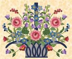 Blooming Basket by Pearl Pereira | P3 Designs