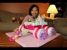Wagon Diaper Cake Tutorial Video Tutorial Lots Of Ideas