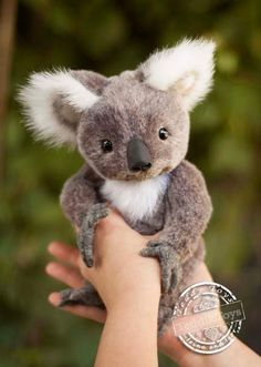 Koala Lula By Irina Vnukova - Koala Lula, growth standing22cm,It can be custom made. To order, write to me on email or facebook))) - It is sewed of beautifulGerman plush - Fixing paws and muzzle on the cotter pin -Filled with polyester and metal granulate - It has a good weight, weighted metal gr...