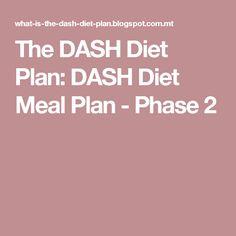 The DASH Diet Plan: DASH Diet Meal Plan - Phase 2