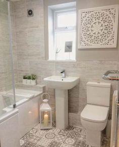 En suite / Badezimmer Idee – Home Decor On A Budget Cozy Bathroom, Modern Bathroom, Bathroom Art, Minimal Bathroom, Scandinavian Bathroom, Bathroom Models, Zebra Bathroom, Kmart Bathroom, Bathroom Canvas