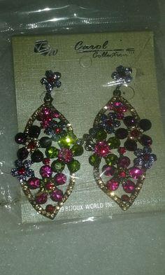BNWT Vintage Earrings Festive Dangle Drop in Jewelry & Watches, Fashion Jewelry, Earrings   eBay