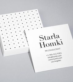 Mi identidad web un proyecto de romina curone business cards just ordered these cute simple moo square polka dot business cards reheart Images