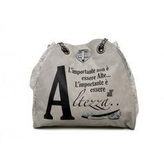 """LE #PANDORINE - Borsa NEW CLASSIC LACE  """"Altezza..."""" in ecopelle - Grigio  - Elsa-boutique.it <3"""