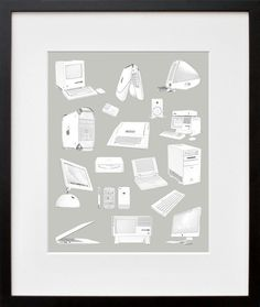 Evolution of the Apple Computer Poster