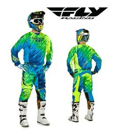 FLY RACING 2015 MX KINETIC GLITCH BLUE RIDING JERSEY PANT GLOVE COMBO MOTOCROSS #FLYRACING