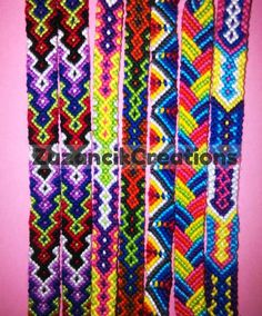 Multicolor Knotted Braided Friendship by ZuzancikCreations on Etsy