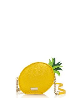 PINEAPPLE HYPER. BUT FOR REAL. I NEED THIS. kate spade, wing it pineapple cross-body.