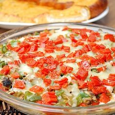 Hot Pizza Dip.  Serve with warm garlic bread.