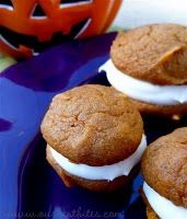 @keelysteger for your party - Pumpkin whoopie pies with cream cheese filling