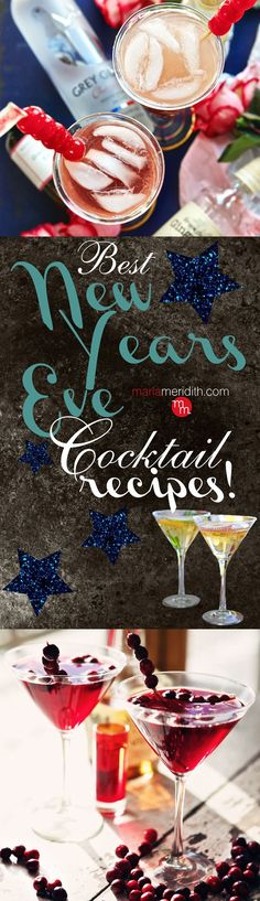 the BEST New Year's Eve Cocktail Recipes from around the web! MarlaMeridith.com