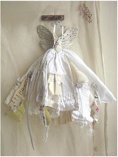 Mini Couture Assemblage Art * Fairy Gown Mini Dresses Made From Paper, Fabrics, Feathers, Flowers and Fabulousness! DIY Inspiration