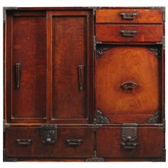 Shop commodes and chests of drawers and other antique and modern storage pieces from the world's best furniture dealers. Japanese Furniture, Asian Furniture, Oriental Furniture, Furniture Styles, Wood Furniture, Furniture Design, Asian Interior Design, Interior Design Kitchen, Japanese Design