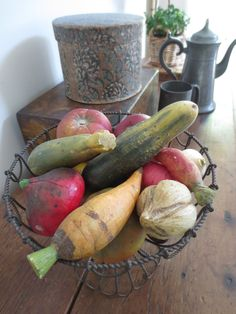 Fruits And Vegetables, Veggies, Stone Fruit, Zucchini, Primitive, Marble, Antiques, Kitchen, I Love
