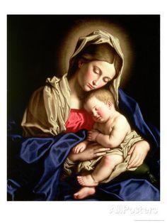 Madonna and Child Giclee Print by Giovanni Battista Salvi da Sassoferrato at AllPosters.com