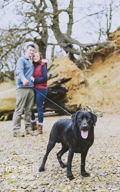 Engagement shoot, dog shoot, engagement shoot with dog, puppy shoot, couple shoot, beach photo