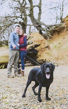 Engagement shoot, dog shoot, engagement shoot with dog, puppy shoot, couple shoot, beach photo