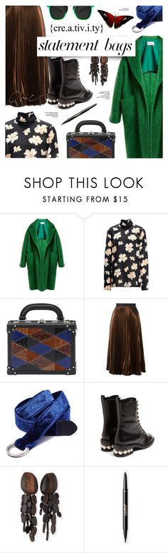"""Go weird for a while"" by edita1 ❤ liked on Polyvore featuring Raey, Joseph, Bertoni, Christopher Kane, Midway, Nicholas Kirkwood, Viktoria Hayman, Reverie, Spitfire and statementbags"