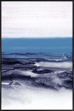 watercolor landscape - blue Art Print by Iris Lehnhardt - X-Small Iris, Art Bleu, Blue Shower Curtains, Blue Poster, Affordable Wall Art, Framed Prints, Art Prints, Living Room Art, Blue Art