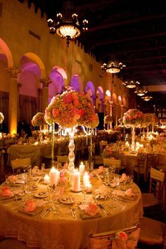 Wedding At The Biltmore Hotel In C Gables Southfloridaweddings Centerpieces