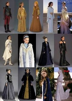 Padme's different outfits