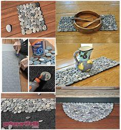 Deniz taşlarından paspas yapımı | El Yapımı | Pek Marifetli!