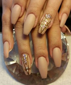 colored mate nails art design with gel polish