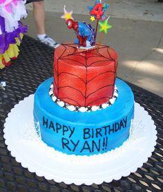 4th birthday cakes for boys | Spiderman Birthday — Children's Birthday Cakes
