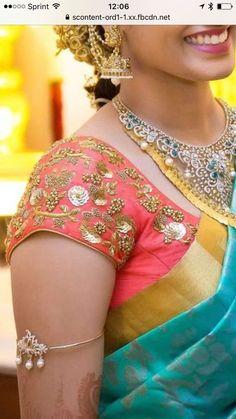 Cutwork Blouse Designs, Pattu Saree Blouse Designs, Simple Blouse Designs, Stylish Blouse Design, Bridal Blouse Designs, Maggam Work Designs, Designer Blouse Patterns, Aari Embroidery, Maggam Works