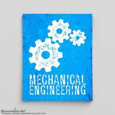 Mechanical Engineer Print Engineering Gears by GrammaticalArt