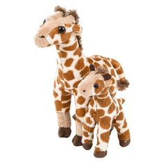 WHAT'S INCLUDED: From a realistic design and distinctive facial markings, this floppy Giraffe plush is simply irresistible! This plush Giraffe is huggable, hand-washable, soft, shed-free and made from high quality acrylic, polyester and stitching to ensure added safety!  	 DIMENSIONS: Measuring at 8 Inches, our adorable Giraffe mom and baby stuffed animals are comfortable and soft to the touch! The perfect size for at home and take on the go play!  	 MULTI-PURPOSE: Expand your child's…