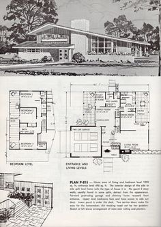 Retrospace the vintage home 19 better homes and gardens for Single story mid century modern house plans