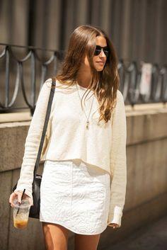 {White on white.}