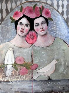 """For 20 years, Judith Orloff has helped make being an empath """"something that caring characters would aspire towards."""" She shares practices from a lifetime of overcoming shame and creating empowerment. Quirky Art, Whimsical Art, Sisters Art, Altered Book Art, Abstract Portrait, Naive Art, Woman Painting, Artist Art, Art Pictures"""
